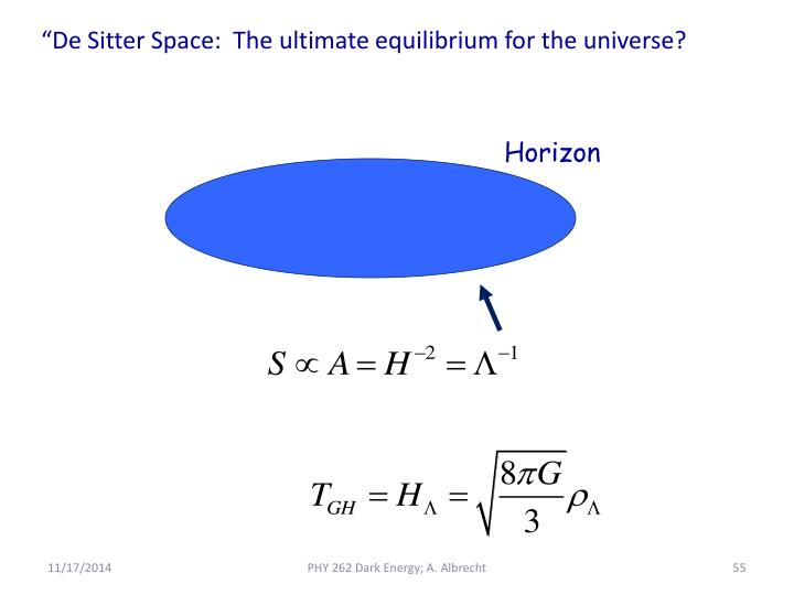 """De Sitter Space:  The ultimate equilibrium for the universe?"