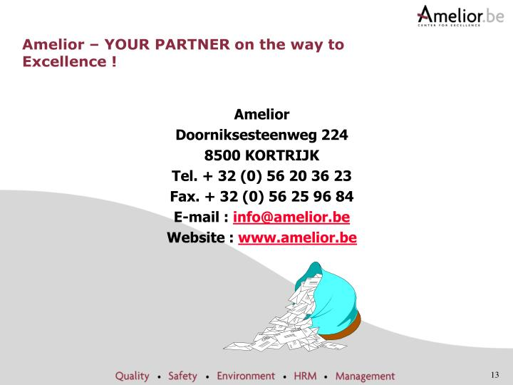 Amelior – YOUR PARTNER on the way to Excellence !