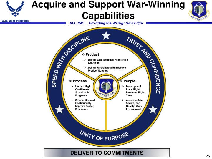 Acquire and Support War-Winning Capabilities