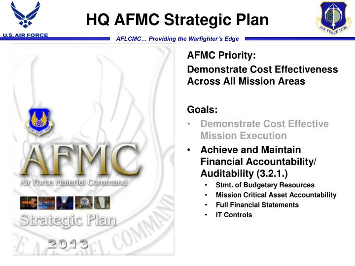 HQ AFMC Strategic Plan