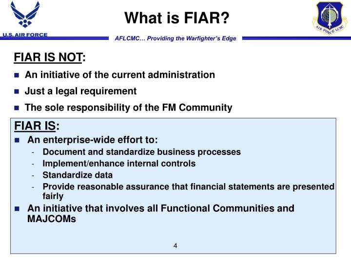What is FIAR?
