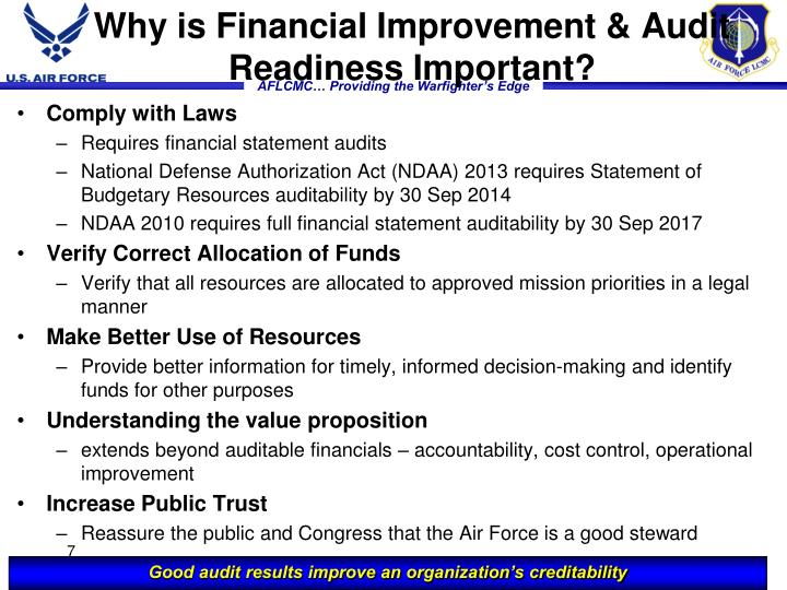 Why is Financial Improvement & Audit Readiness Important?