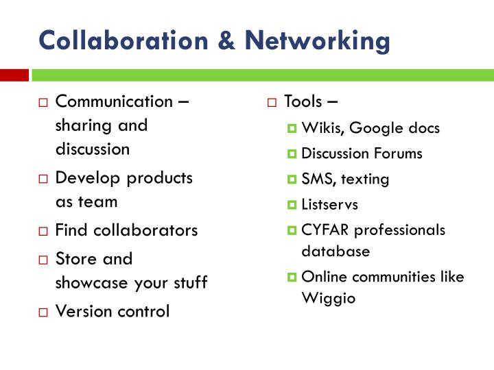 Collaboration & Networking
