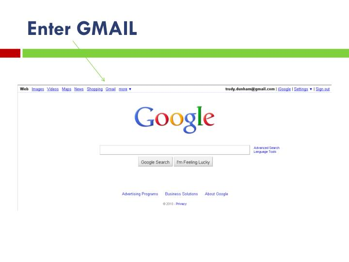 Enter GMAIL