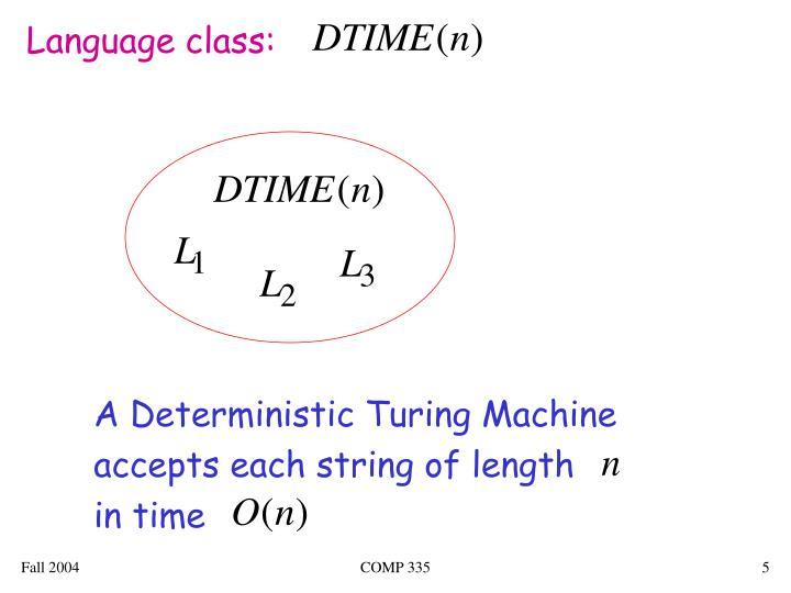 Language class: