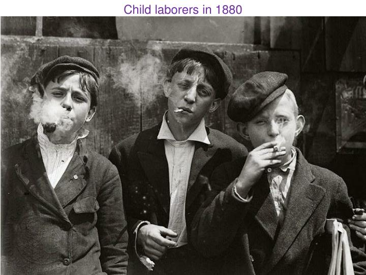 Child laborers in 1880