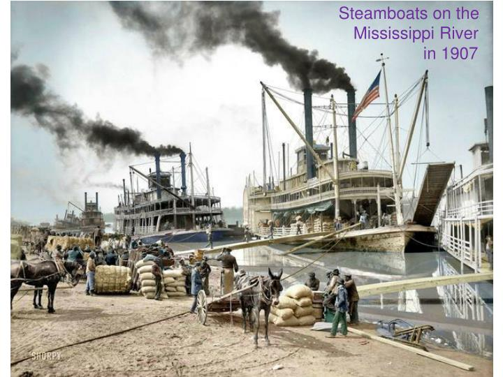 Steamboats on the