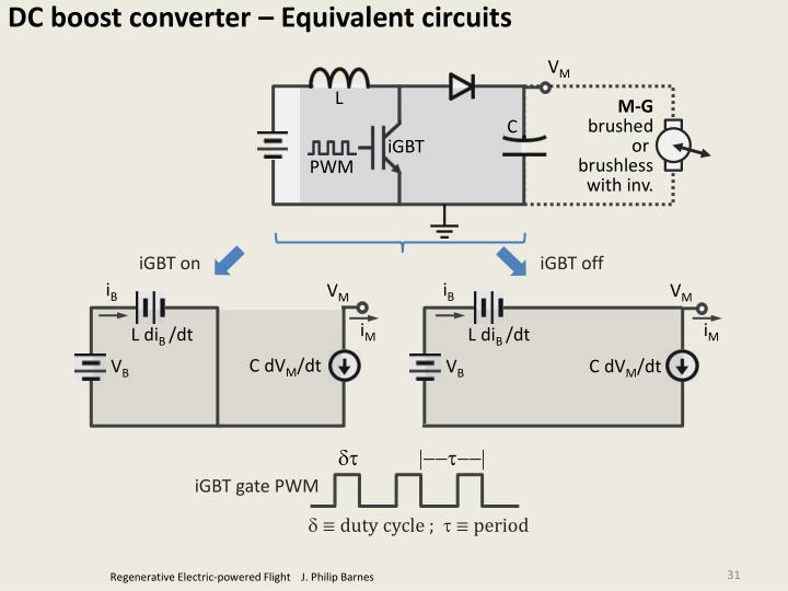 DC boost converter – Equivalent circuits