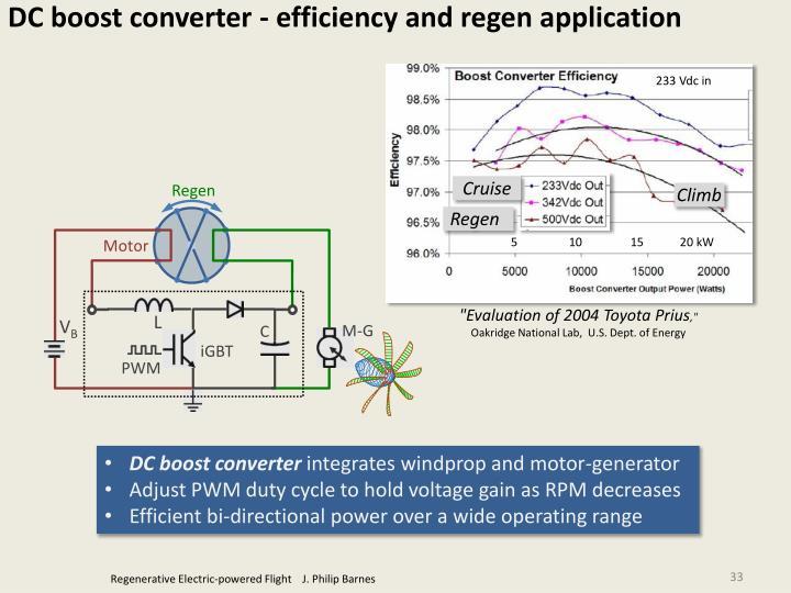 DC boost converter - efficiency and regen application