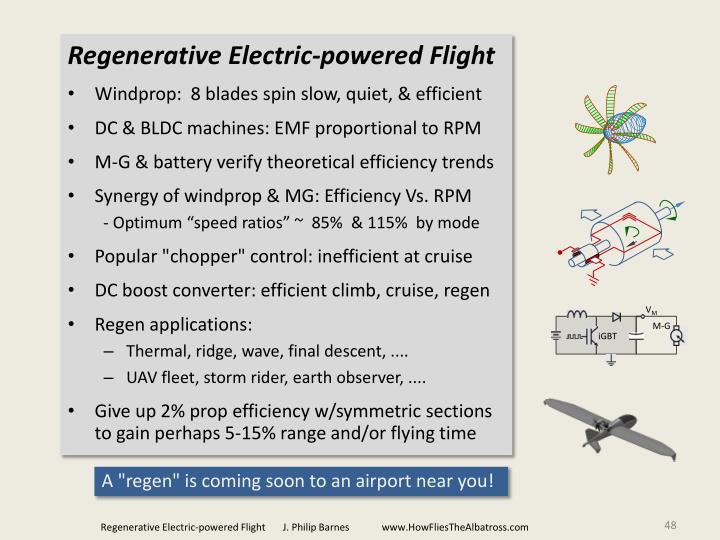 Regenerative Electric-powered Flight
