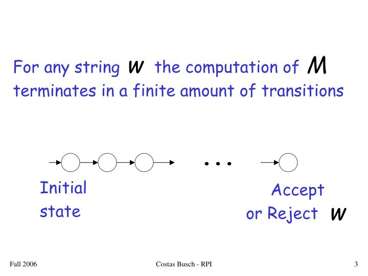 For any string       the computation of