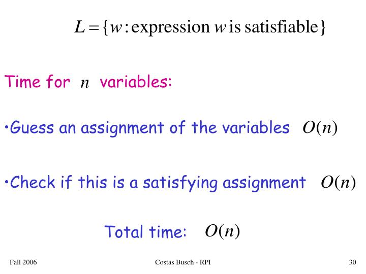 Time for      variables: