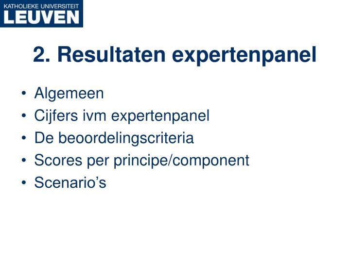 2. Resultaten expertenpanel