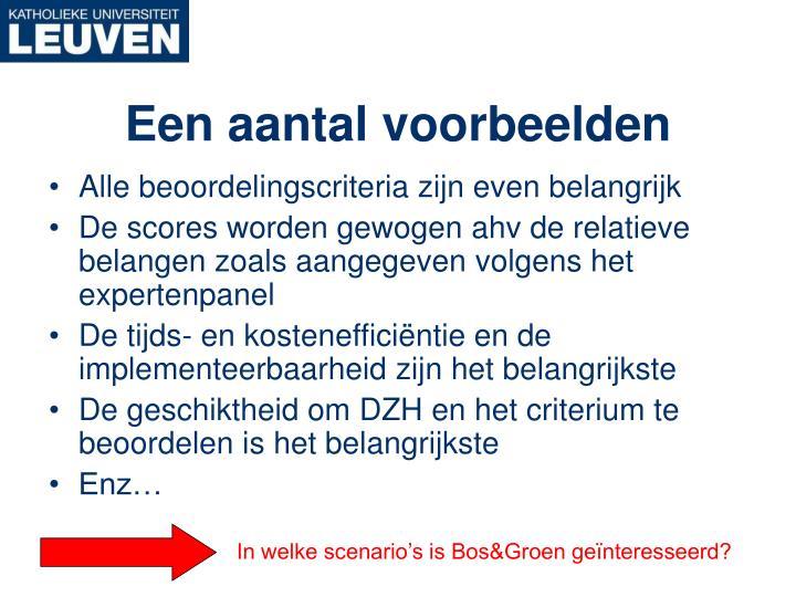 In welke scenario's is Bos&Groen geïnteresseerd?