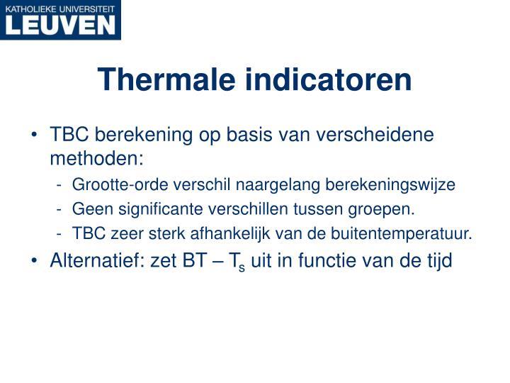 Thermale indicatoren
