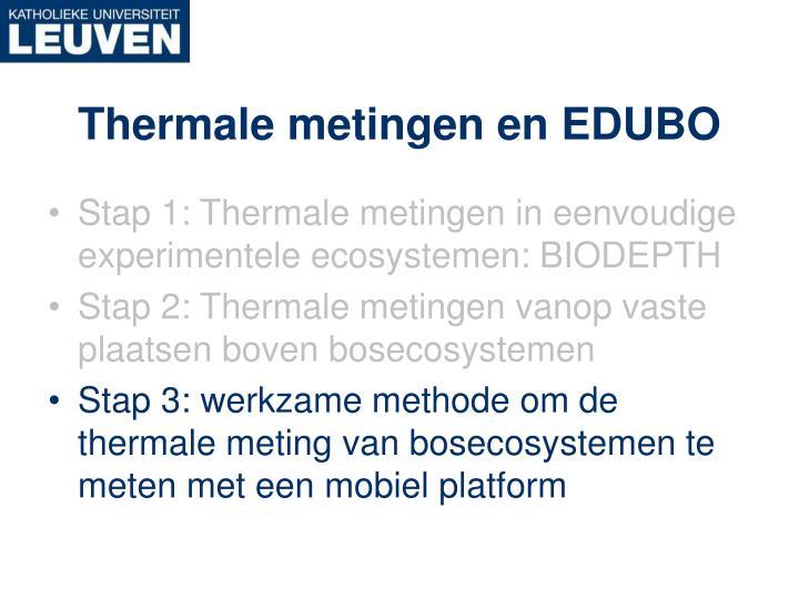 Thermale metingen en EDUBO