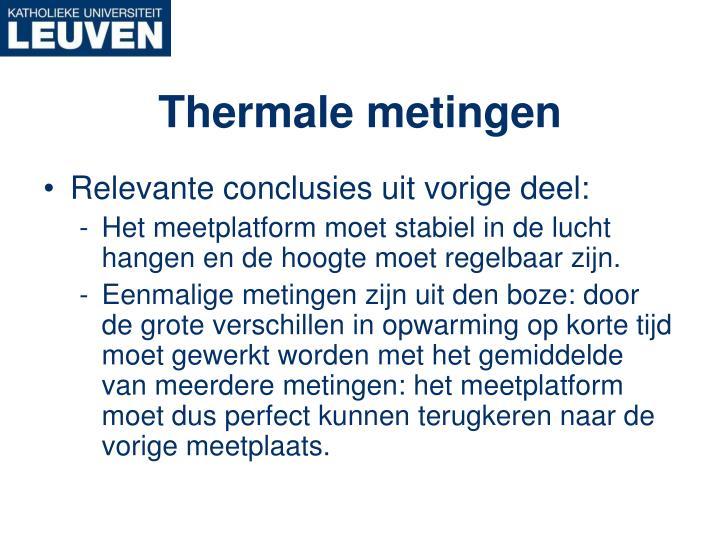 Thermale metingen