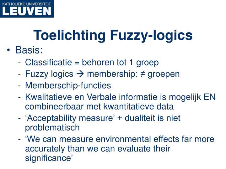 Toelichting Fuzzy-logics
