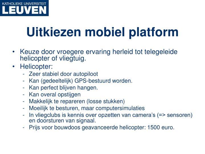 Uitkiezen mobiel platform