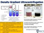 density gradient ultracentrifugation