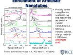enrichment of armchair nanotubes