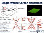 single walled carbon nanotubes