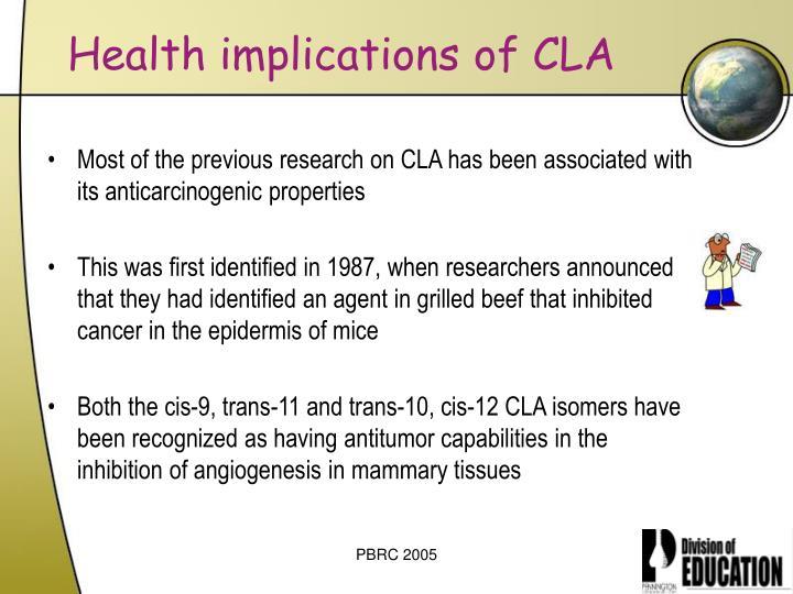 Health implications of CLA