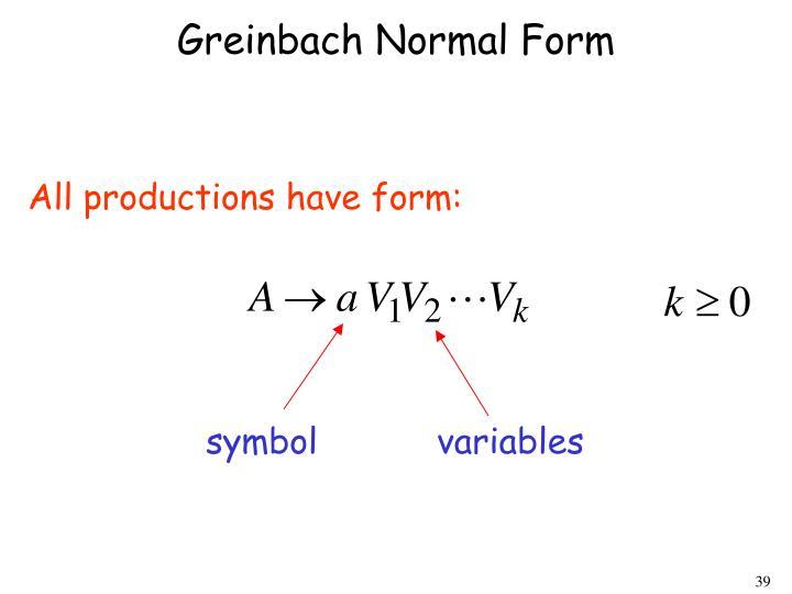 Greinbach Normal Form