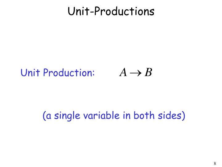 Unit-Productions