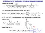 steady state analysis of chapman mechanism