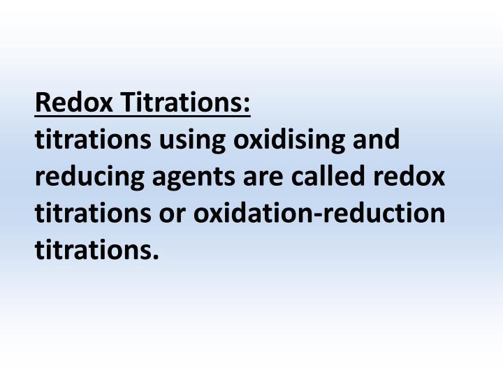 Redox Titrations: