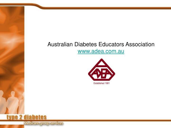 Australian Diabetes Educators Association