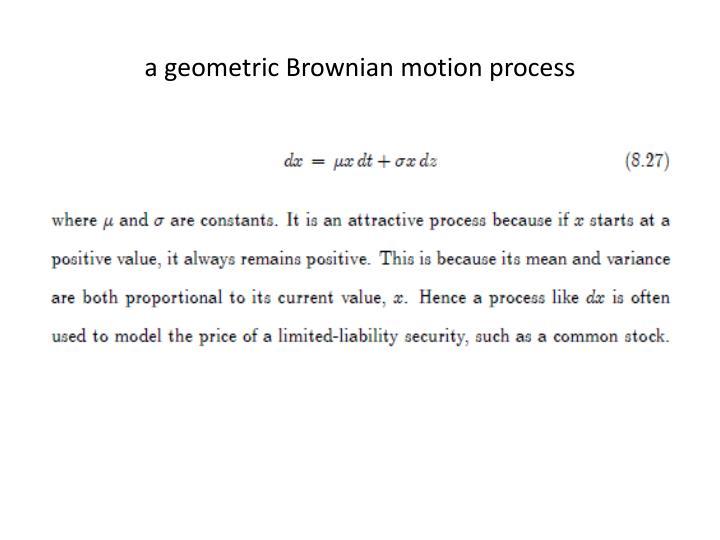 a geometric Brownian motion process