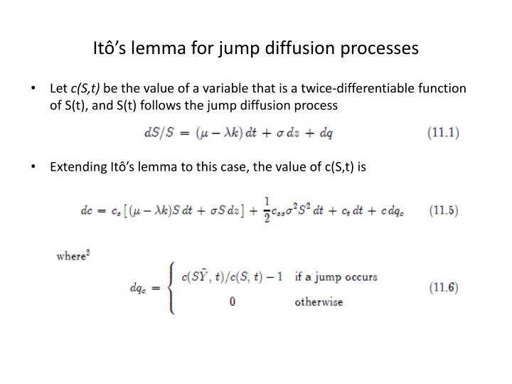 Itô's lemma for jump diffusion processes