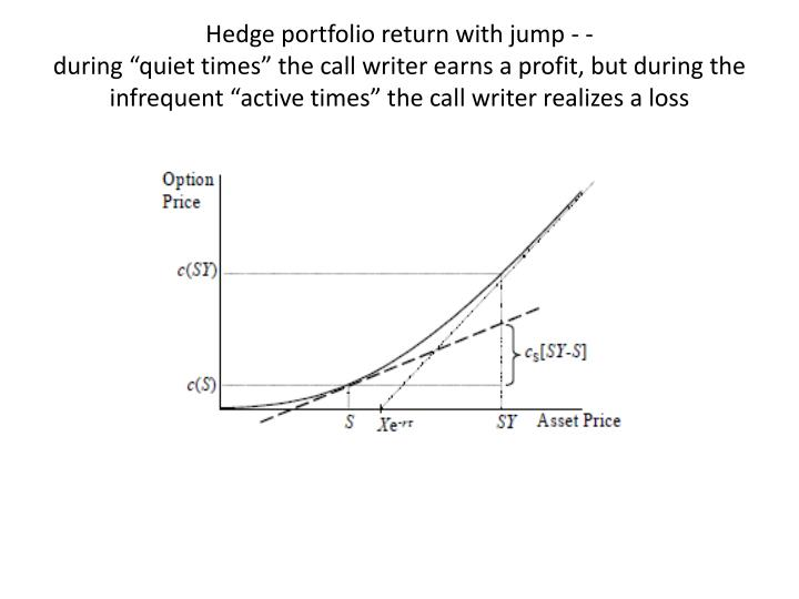 Hedge portfolio return with jump - -