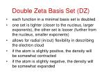 double zeta basis set dz