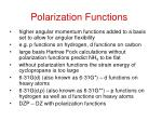 polarization functions