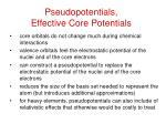 pseudopotentials effective core potentials