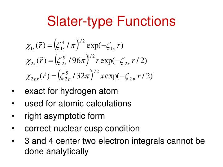 Slater-type Functions