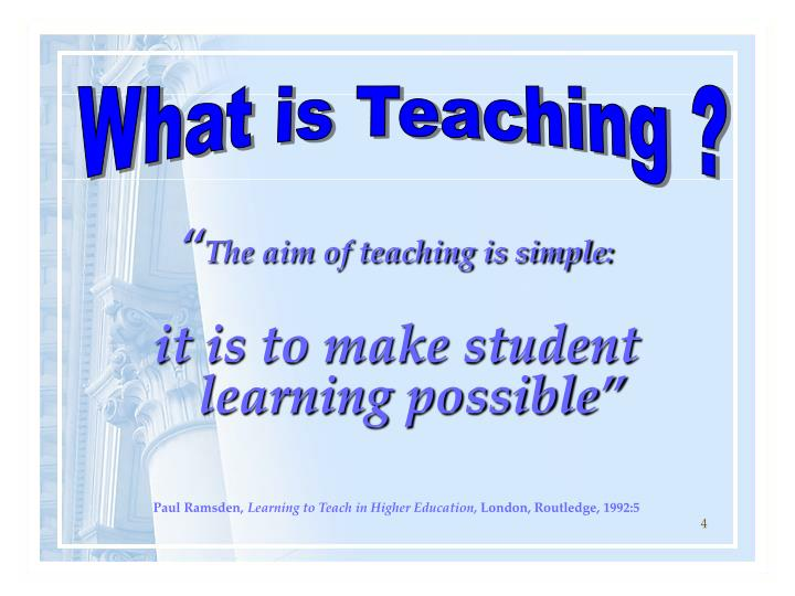 What is Teaching ?