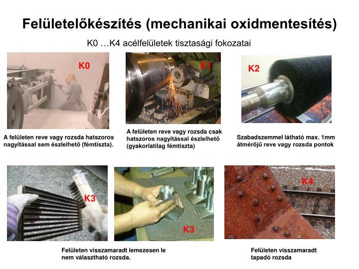 Felületelőkészítés (mechanikai oxidmentesítés)