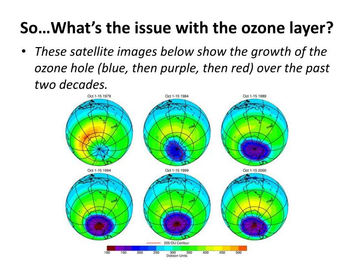 So…What's the issue with the ozone layer
