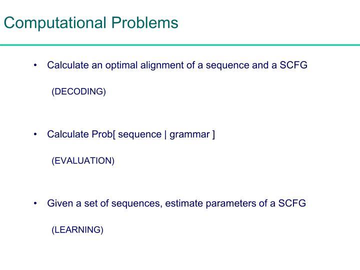 Computational Problems