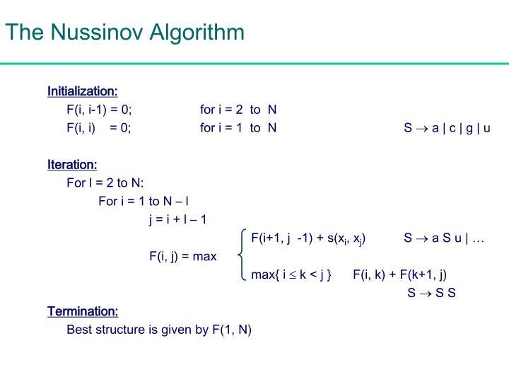 The Nussinov Algorithm