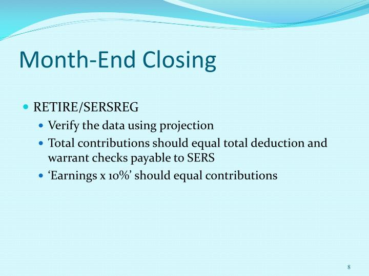 Month-End Closing