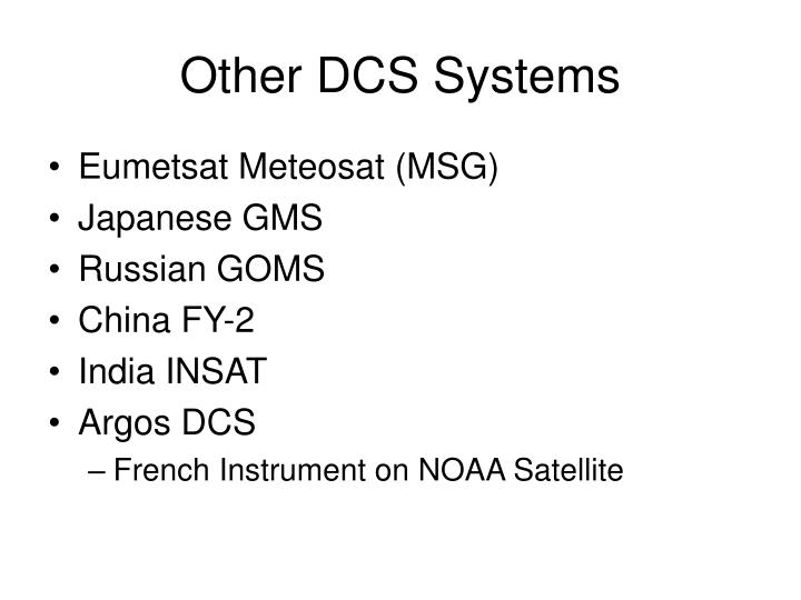 Other DCS Systems