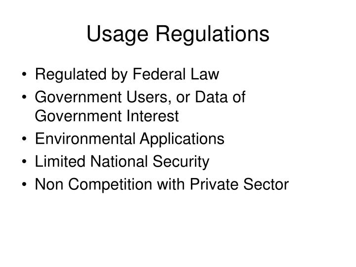 Usage Regulations