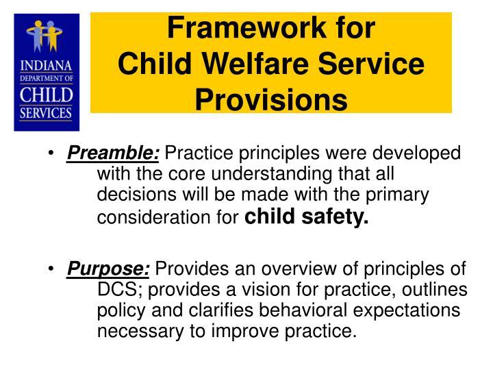 Framework for