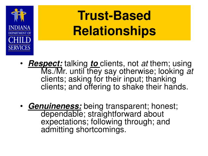 Trust-Based Relationships