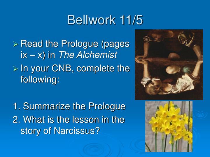 Bellwork 11/5